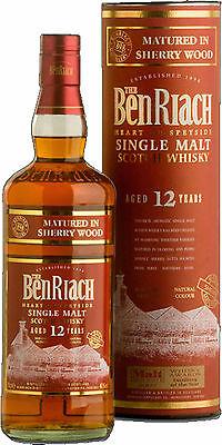 Benriach 12 Jahre Sherry Cask matured, Speyside, Single Malt Whisky, 0,7 l.