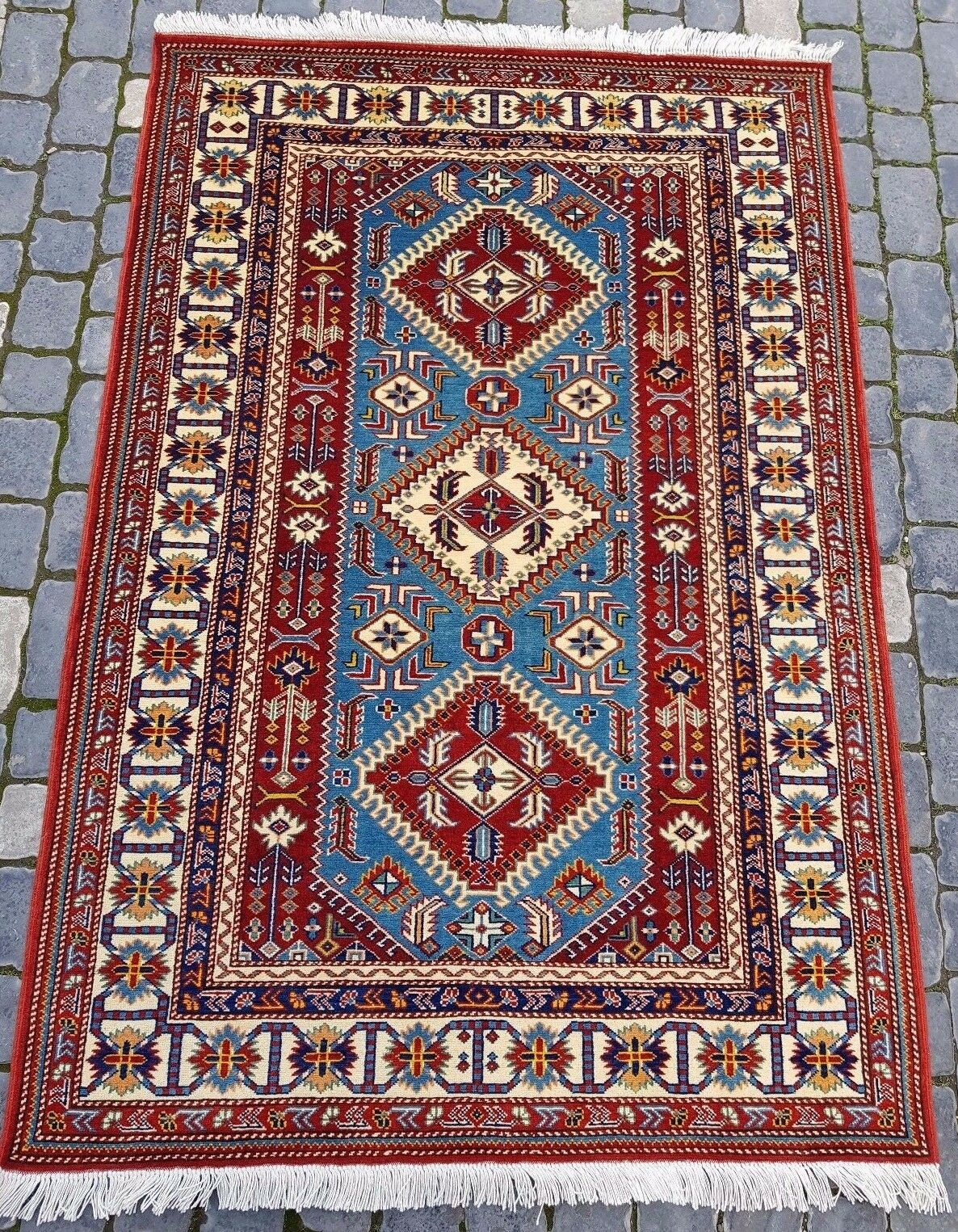 4'x6' Hand Knotted Rug Carpet Handmade Wool New Traditional Old Old Old Antique Oriental e3c955