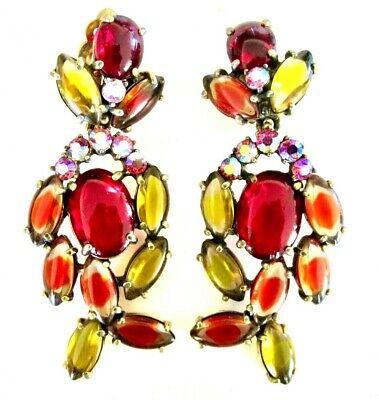 Vintage glass earring or pendant drop