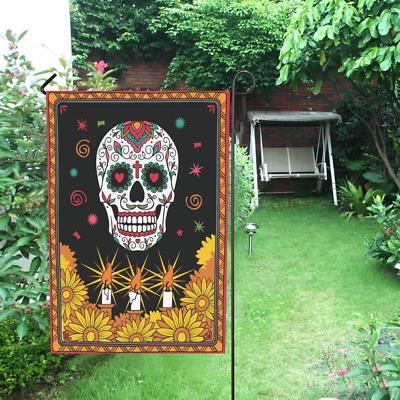 """Day of the Dead Dia De Muertos Mexican Skull Garden Flag 12/"""" x 18/"""""""