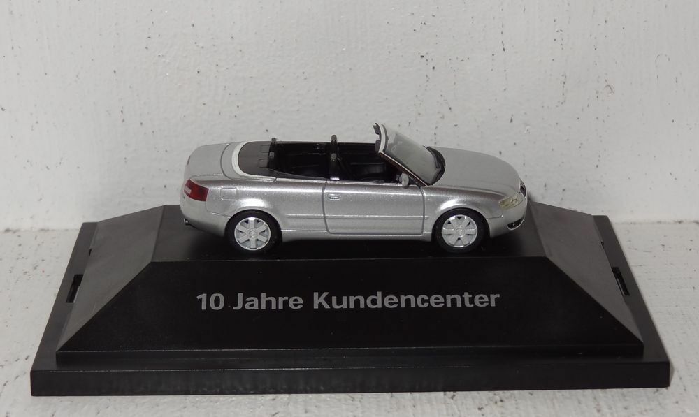 Herpa Audi a4 cabriolet  10 ans de clients Center  1 87 dans PC (r2_4_63)