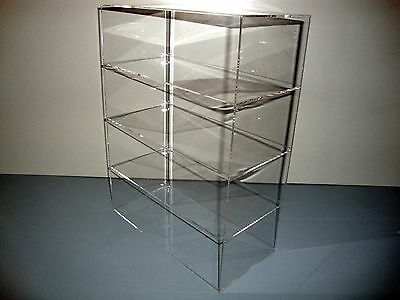 "Acrylic Lucite Countertop Display Case ShowCase Box Cabinet 12"" x 6"" x 16"""