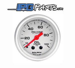 Autometer-Ultra-Lite-0-100-PSI-Mechanical-Oil-Pressure-Gauge-52mm-Part-4321