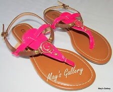 GUESS Thongs Flip Flop Slippers Sandals Shoes Flops open Toe shoe T strap  NWT 6