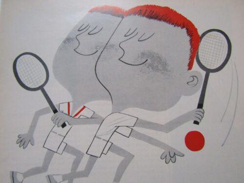 "1960 Cities Service Citgo Tennis-Original Print Ad 8.5 x 11/"""