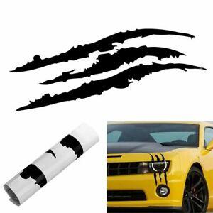Car-Headlight-Scratch-Stripe-Decal-Sticker-Claw-Stripe-Slash-Truck-BLACK-V-M5M1