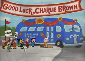 Peanuts-Good Luck, Charlie Brown! Limited Edition Cel Signed by Bill Melendez