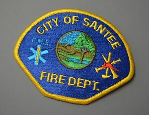 Details about Santee California Fire Dept  Patch ++ Mint San Diego County CA