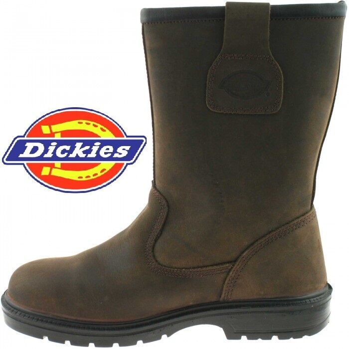 DICKIES RIGGER Stiefel WORK  SAFETY STEEL TOE CAP & MS FD9204 4-12 NEVADA ROTUCED