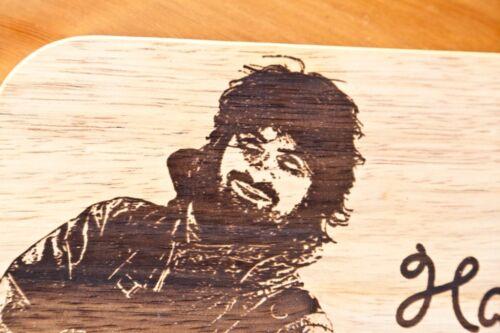 Frühstückbrettchen Brettchen mit individueller Fotogravur Text Gravur Holzbrett
