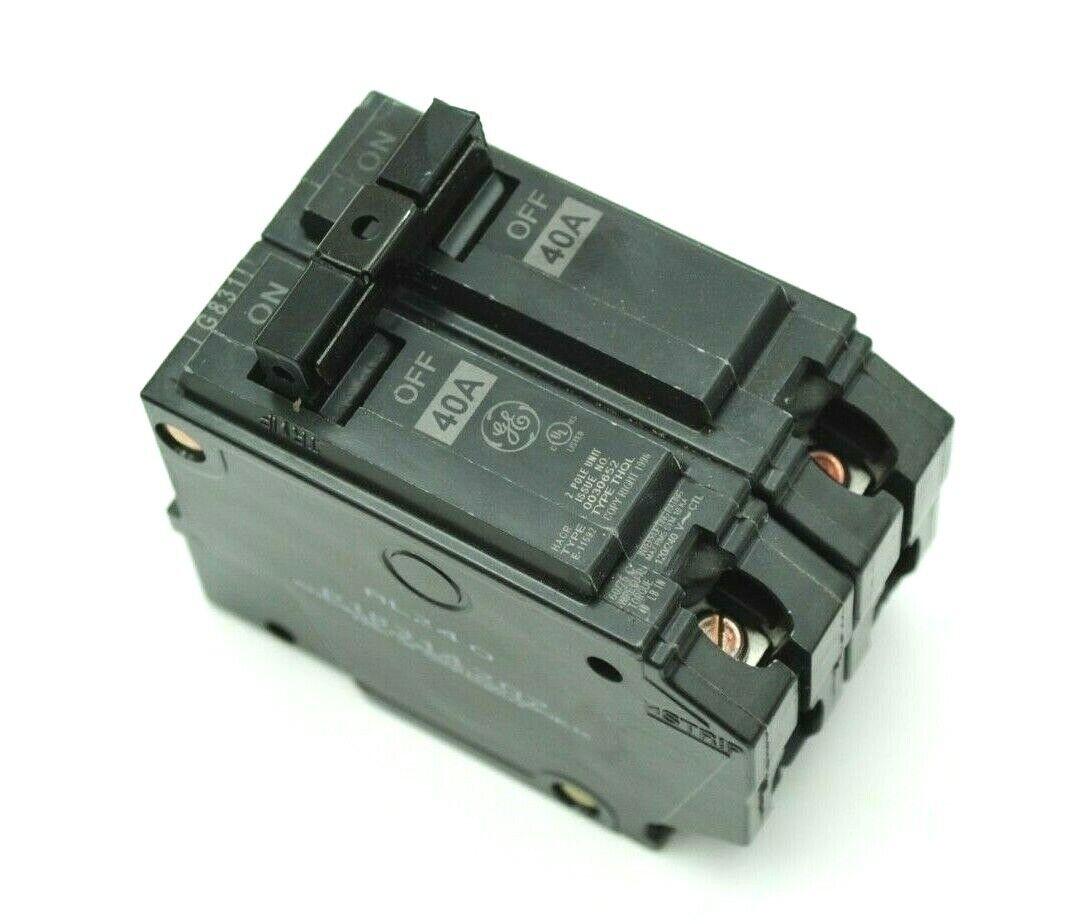 GENERAL ELECTRIC CIRCUIT BREAKER 40 AMP 2 POLE