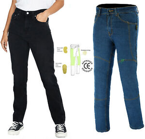 Women-Motorcycle-jeans-Reinforced-Ladies-Pant-with-Kevlar-lining-CE-Protective