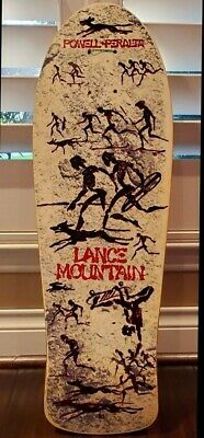 "Powell Peralta LANCE MOUNTAIN Skateboard Sticker 4.5/"" magenta"