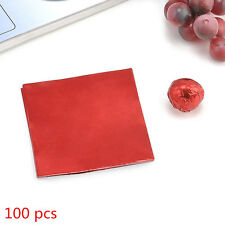 """100pcs Square Wrappers Foil Paper 3"""" X 3"""" For Candy Sweets Chocolate lolly"""
