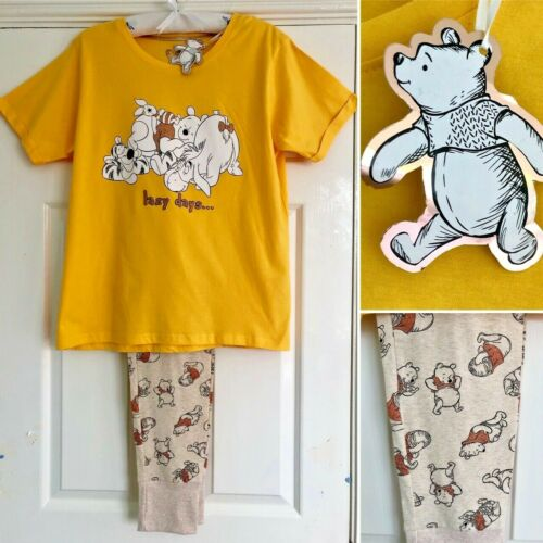 Primark NEW 12-14 Disney WINNIE THE POOH 2-Piece Cotton Pyjama Set Medium