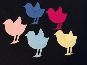 FELT-birds-assorted-colours-x-10-applique-card-making-sewing-craft