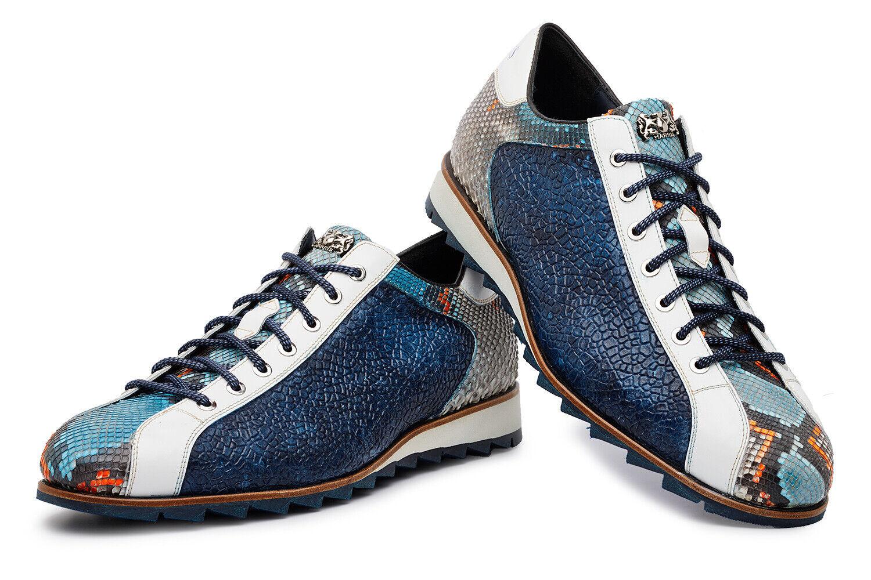 HARRIS zapatillas in pelle stampata