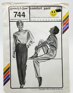 Stretch-amp-Sew-Pants-Trousers-Sewing-Pattern-744-Hip-32-48-New