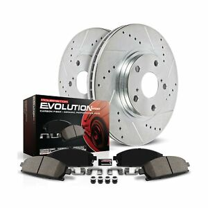 Power Stop K2009 Front Brake Kit with Drilled/Slotted Brake Rotors and Z23 Ev...