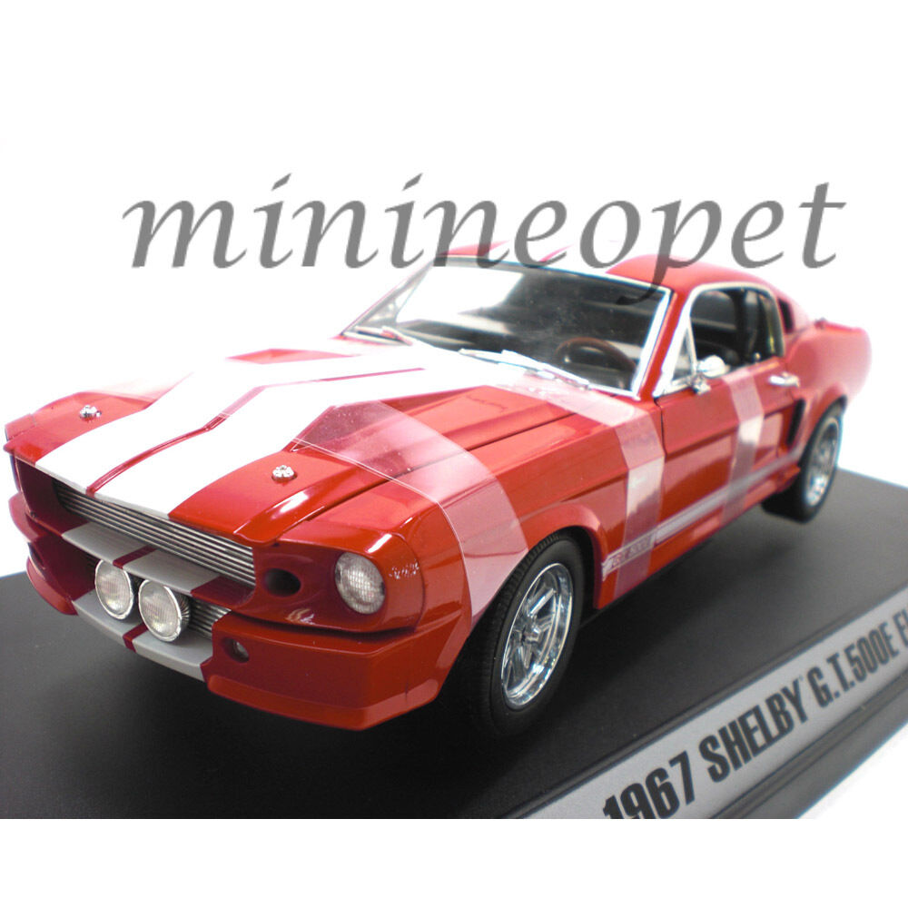 Collectibles 162 1967 SHELBY MUSTANG GT 500 E Eleanor 1 18 Diecast voiture Rouge
