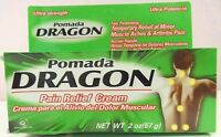 2x Pomada Dragon Genomma Lab Pain Relieving Cream, 2 Oz, Exp: 01/18 Box Issues