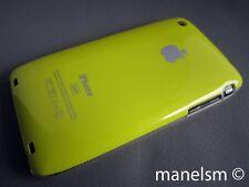 Funda Carcasa dura para iphone 3gs/3g Amarillacon logo de apple