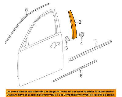 GM OEM Front Door-Applique Window Trim Left 84006056