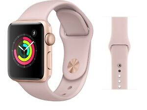 Apple Watch Series 3 38mm Gold Aluminium Case With Pink Sand Sport