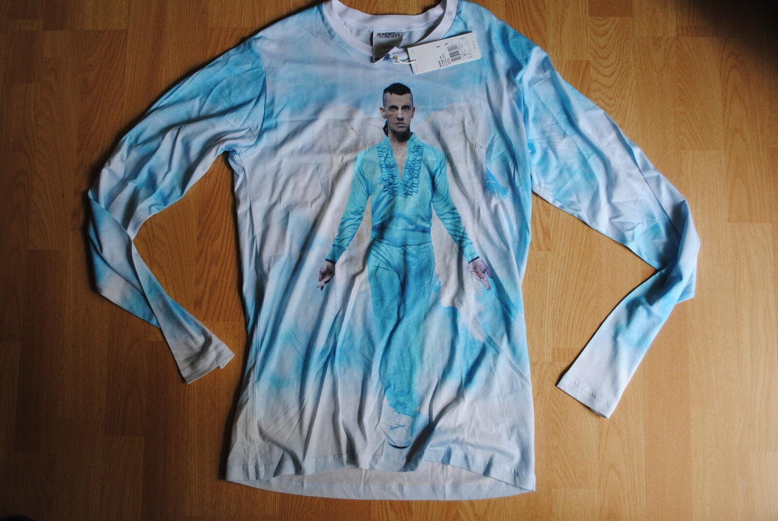 Adidas LS Angel Tee gr  M  Jeremy Scott  Shirt ObyO RARE lepard wings JS W60481