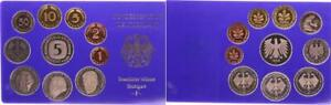 Rfa Curso Conjunto Einzelplatte 1995 Para 1Pf. Hasta 5 DM Pulida Placa 55715