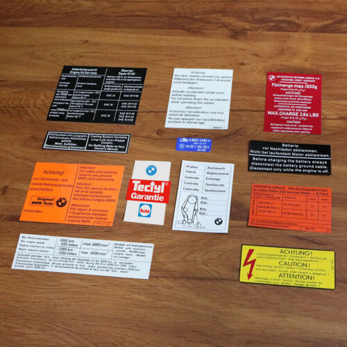 BMW E21 315 316 318 320 320i 323i stickers set aufkleber 3er restoration decals