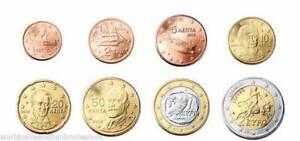 1 2 euro Bimetal UNC Spain 2014 set of 8 euro coins 1 2 5 10 20 50 cent