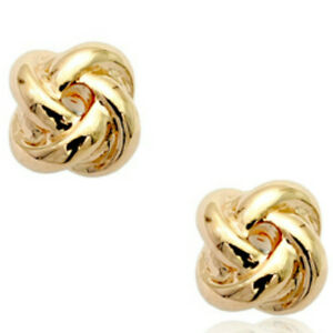 1b7e2cb92 Plain rose gold 8mm knot shaped every day stud earrings quality ...