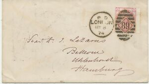 2427-1874-QV-3-d-rose-pl-14-CD-wing-margin-Duplex-cancel-034-LONDON-89-034-HAMBURG