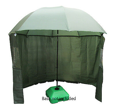 2.1 metre FISHING UMBRELLA SHELTER with hold down pegs beach sun shelter