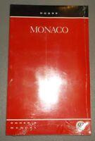 1992 Dodge Monaco Owners Manual Original