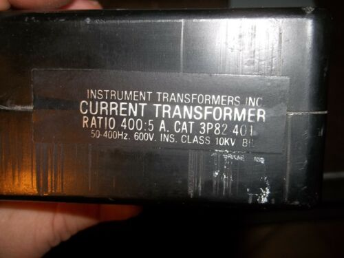 CTI 3P82-401 CURRENT TRANSFORMER 400:5 600V 50-400HZ 10KV WW4