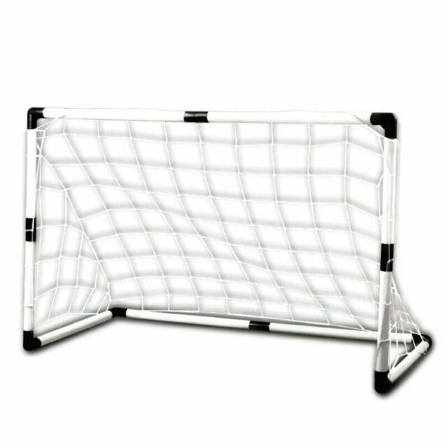 8ft x 4ft Striker Goal  Kids Children Play Polyester Meshed Net Easy Assemble