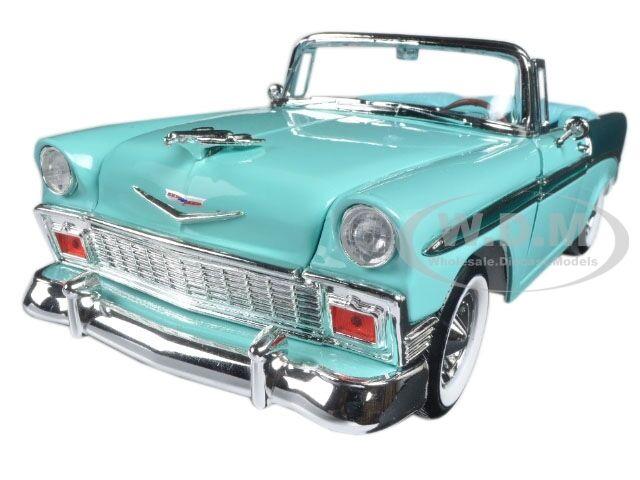 1956 CHEVROLET BEL AIR CONVT GREEN DARK GREEN 1 18 BY ROAD SIGNATURE 92128