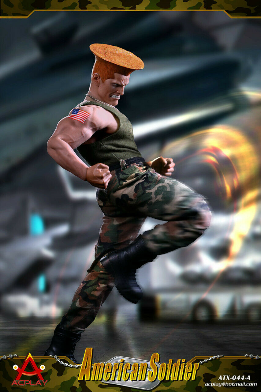 1 6 6 6 Acplay ATX044A Capcom Street Fighter Guile Green with TBLeague M35 Figure 31a0ef