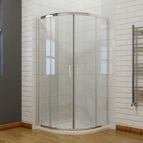 Offset Quadrant Shower Enclosure Door Walk In Corner Cubicle Glass+Stone Tray