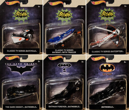 Batman Set 6 Batmobile Modellautos Tumbler Batcopter 1:50 Hot Wheels DKL20