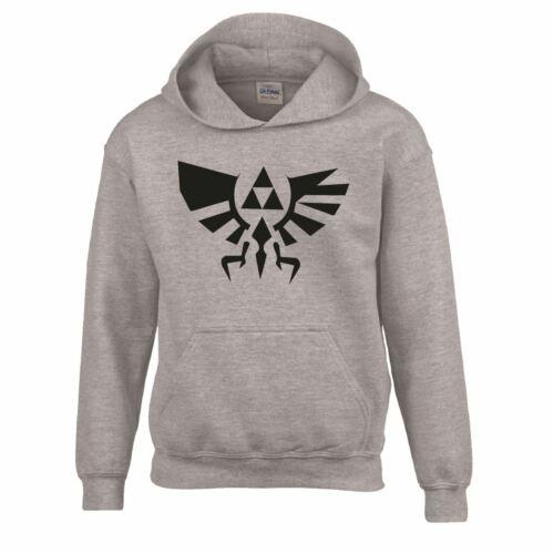 Kids Crest of Hyrule Gamer Skyward Triforce Pullover Gamer Legend Zelda Hoodie