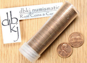 1972-D LINCOLN MEMORIAL CENT PENNY BU 50 COIN ROLL COPPER UNCIRCULATED