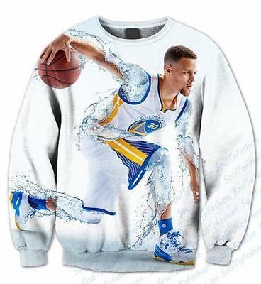 2016 New Womens/Mens Stephen Curry Funny 3D Print casual Sweatshirt Hoodies PQ24