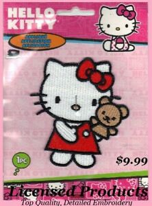 Details about Hello Kitty Embroidered Iron On Applique Patch 3