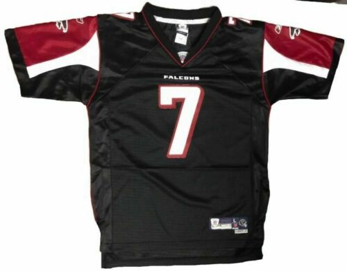 YOUTH Vintage Embroidered Black Michael Vick Throwback Jersey Atlanta Falcons