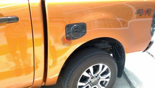 Black Carbon Fuel Oil Tank Cover Trim For FORD RANGER MC T6 WILDTRAK 2012-2018