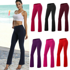 3e4977df530d81 Women High Waist OL Harem Boot Cut Yoga Pants Casual Stretch Sports ...