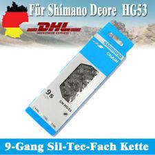 Fahrradketten für Deore LX105 Shimano CN-HG53 116 Glieder HG-53 9 Fach Quicklink